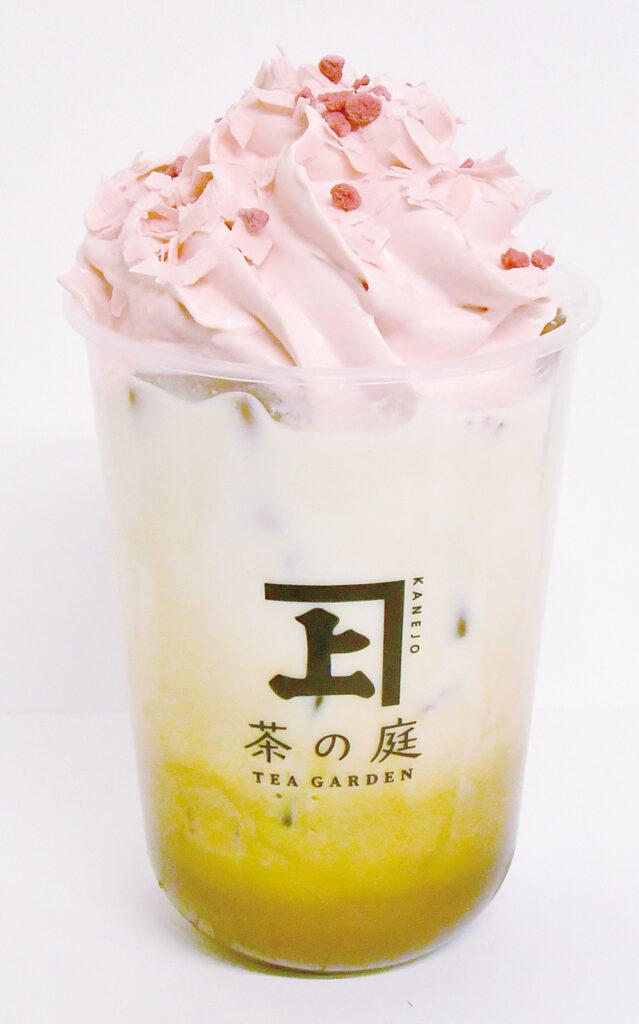 実_苺と桜のほうじ茶ラテ
